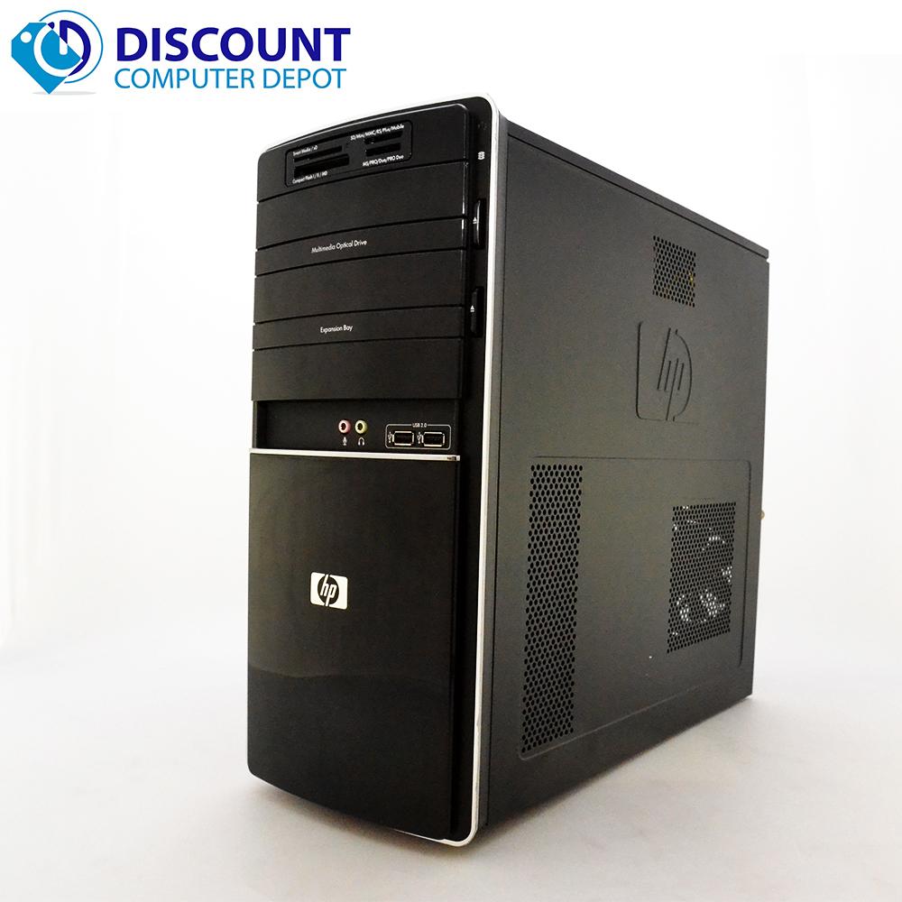 hp p6631p desktop tower windows 10 home computer pc amd athlon ii x4 4gb 250gb ebay. Black Bedroom Furniture Sets. Home Design Ideas